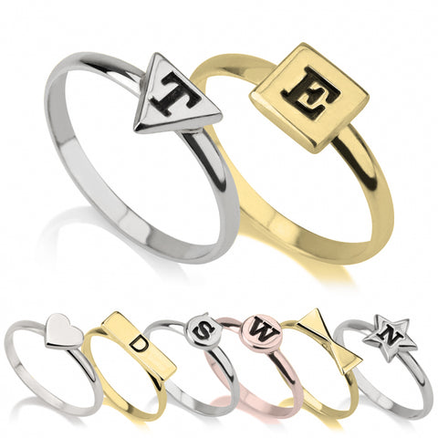 Personalized Midi Ring Set