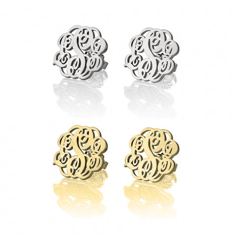 Personalized Monogrammed Earrings Studs