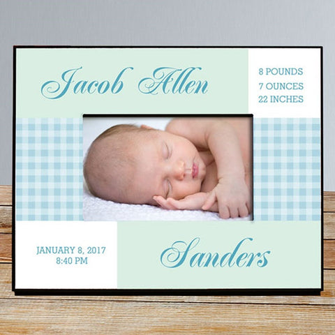 Personalized Baby Information Printed Frame