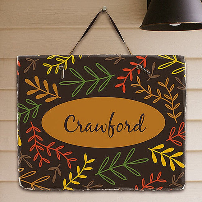 Personalized Fall Branches Slate Plaque