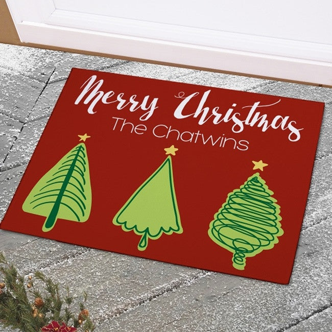 Personalized Christmas Tree Doormat