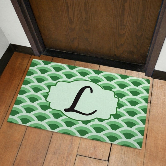 Personalized Fish Scale Print Welcome Doormat