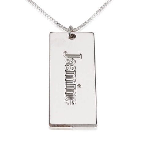 Personalized Sterling Silver Nameplate Pendant