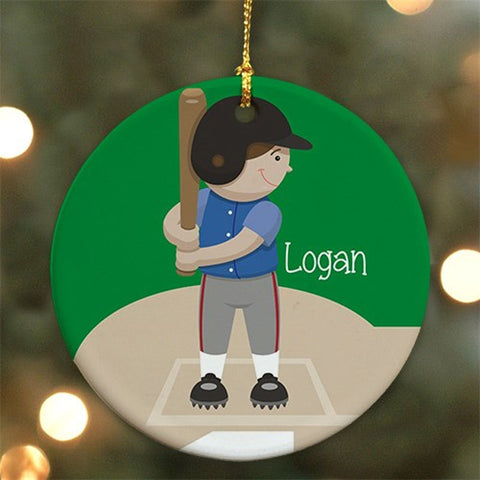 Personalized Baseball Ceramic Ornament