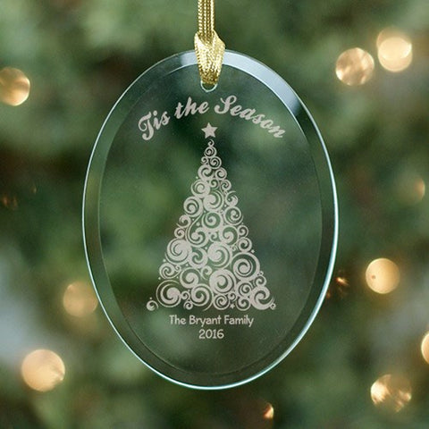 Personalized Engraved Christmas Tree Ornament