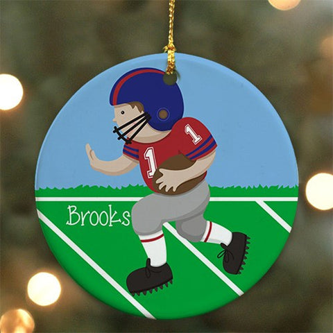 Personalized Ceramic Football Ornament