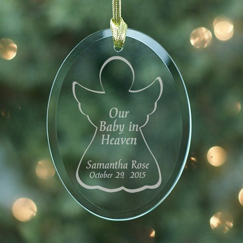 Personalized Engraved Baby in Heaven Ornament