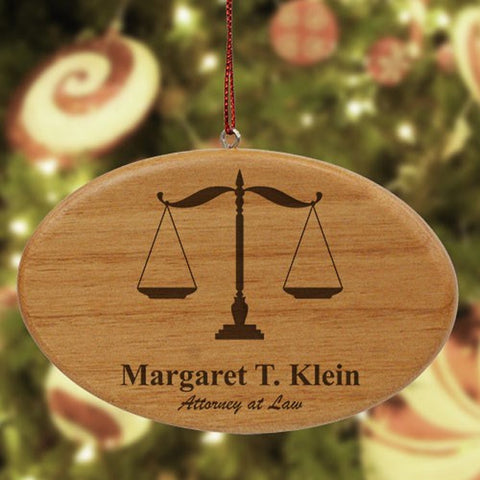 Personalized Lawyer Wooden Oval Ornament