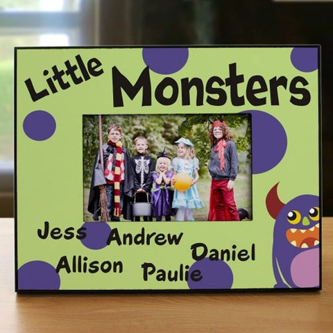Personalized Little Monsters Printed Frame