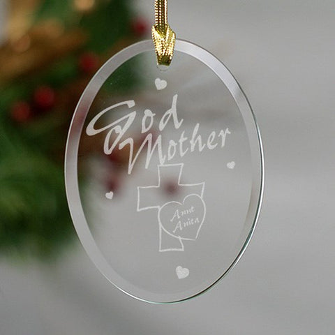 Personalized Godmother Glass Ornament