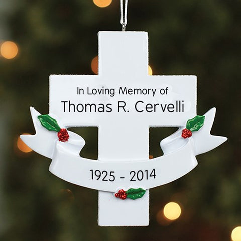 Personalized Sympathy Cross Ornament
