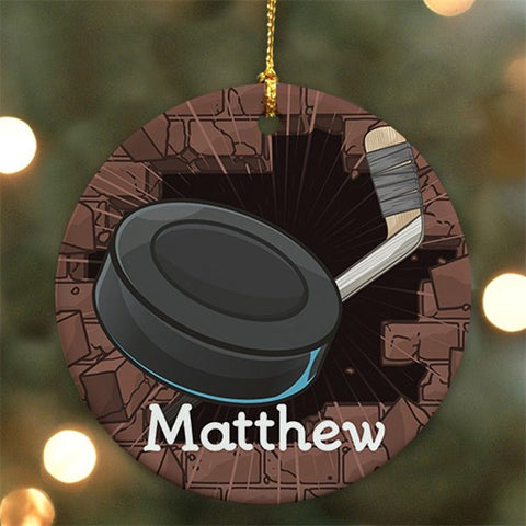 Personalized Hockey Ceramic Ornament