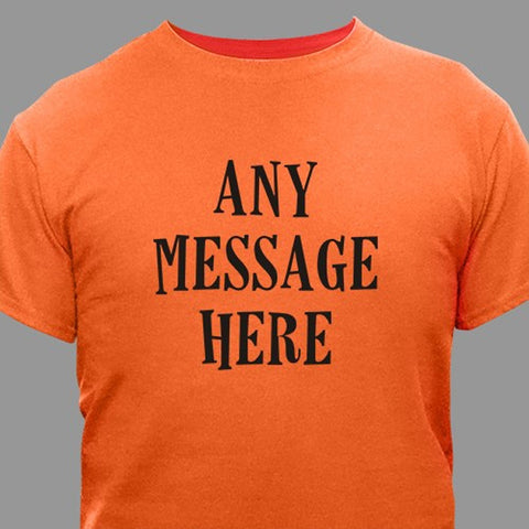 Personalized Custom Message Halloween T-Shirt