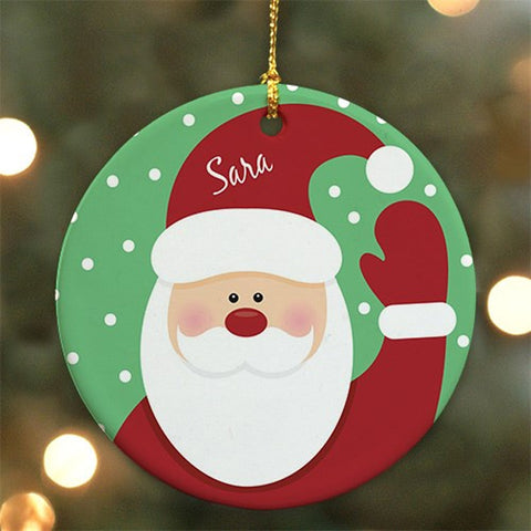 Personalized Round Santa Ornament
