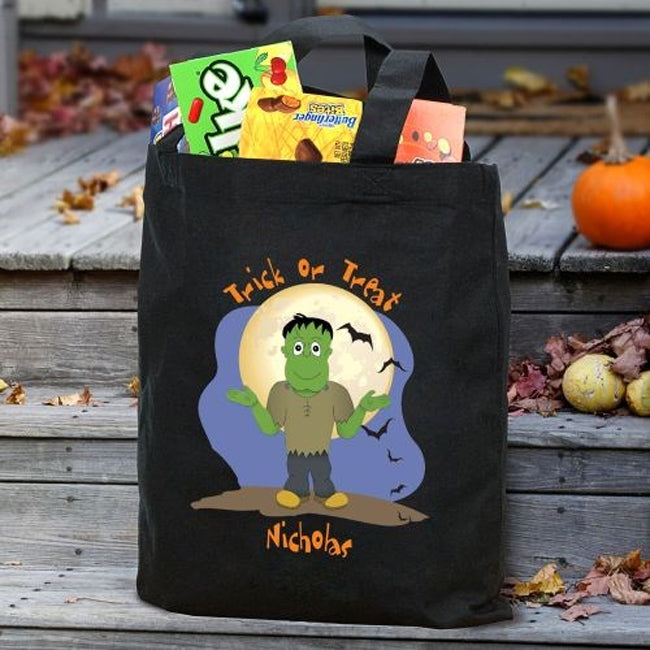 Personalized Halloween Icon Trick or Treat Bag