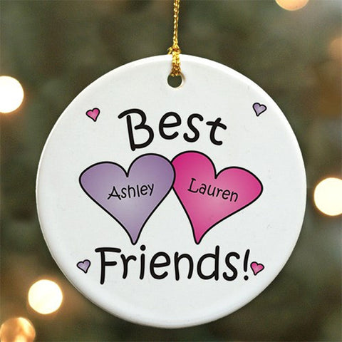 Personalized Best Friends Ornament