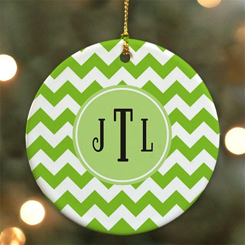 Personalized Monogram Madness Ceramic Ornament