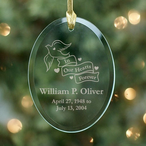 Personalized Engraved In Our Hearts Forever Ornament