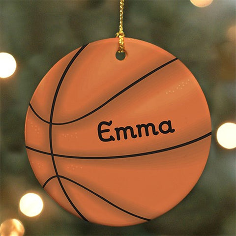 Personalized Basketball Ceramic Ornament