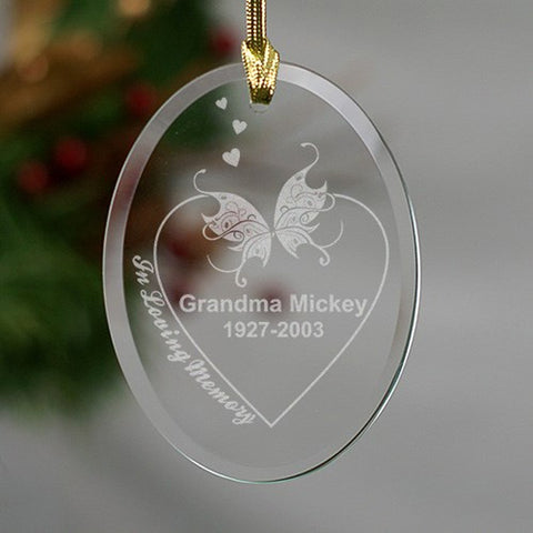 Personalized Engraved In Loving Memory Ornament