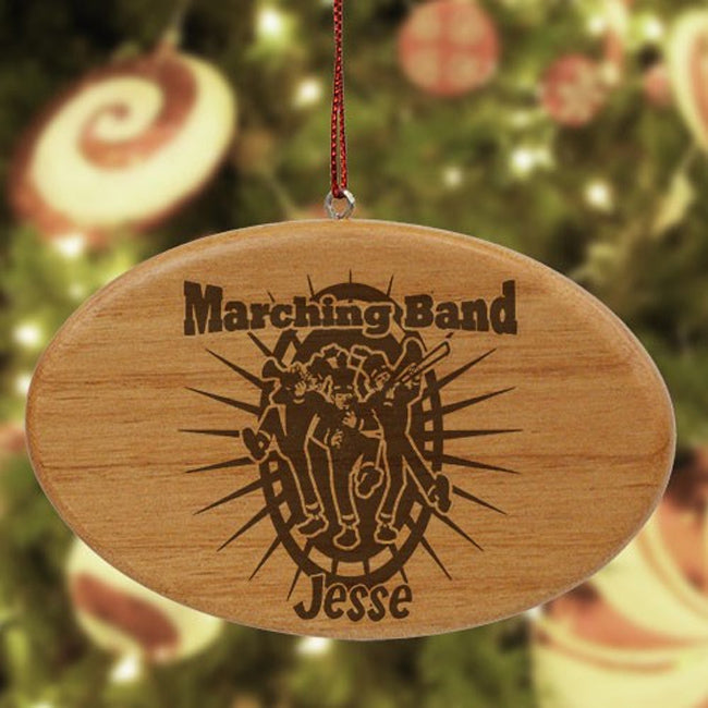 Personalized Marching Band Wooden Oval Ornament