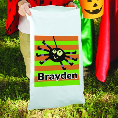 Personalized Halloween Boy Spider Candy Sack