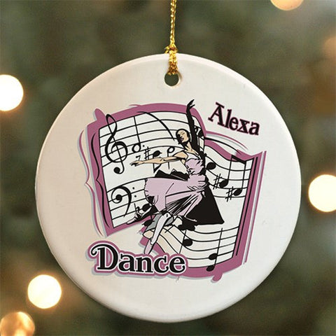Personalized Ceramic Dance Ornament
