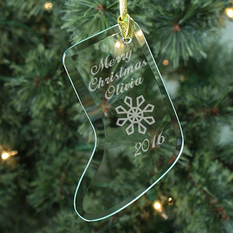 Personalized Merry Christmas Stocking Ornament
