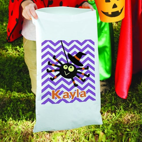 Personalized Halloween Girl Spider Candy Sack