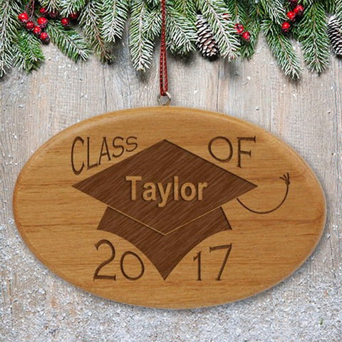 Personalized Class of Wooden Oval Ornament