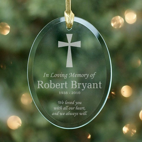 Personalized Remembering Glass Ornament