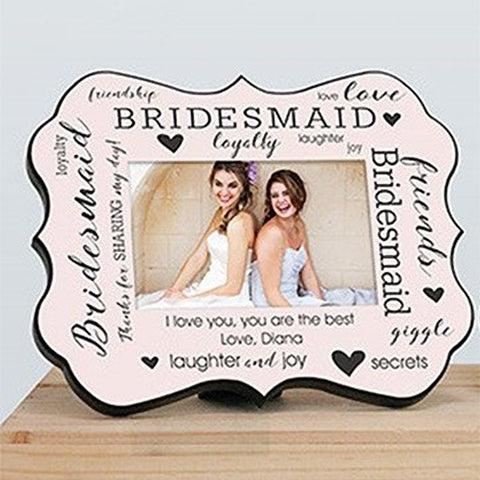 Personalized Bridal Party Pink Benelux Frame
