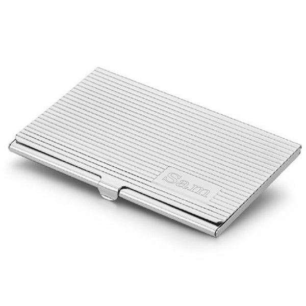 Berger Silver Plated Business Card Case - Personalized