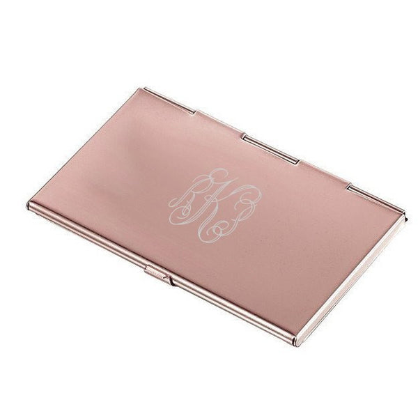 Neima Lilac Marble and Copper Business Card Case - Personalized