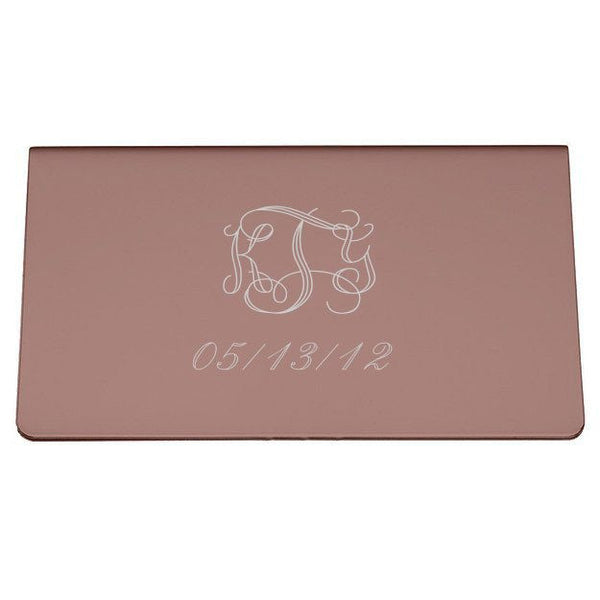 Alameda Cyrstals on Copper Women's Business Card Case - Personalized