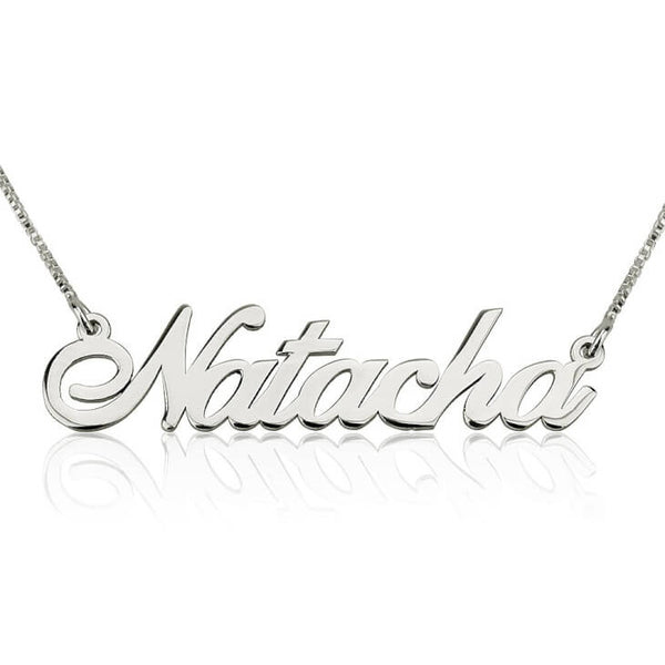 Personalized Silver Classic Name Necklace