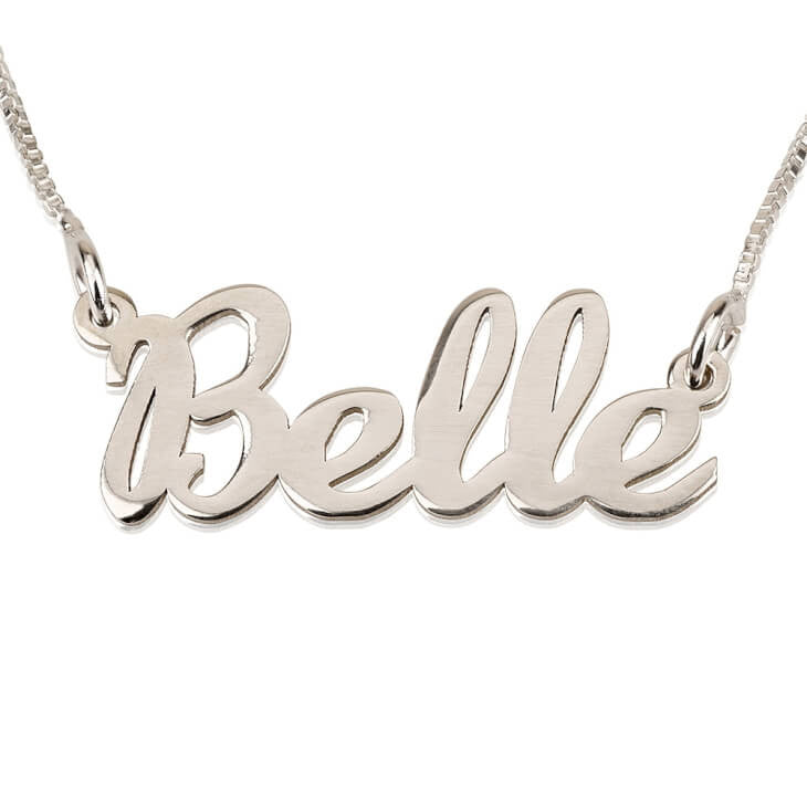 Personalized Silver Handwriting Name Necklace