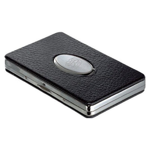 The Oval Leather  Business Card Case