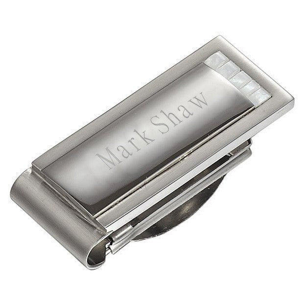Alvaro Stainless Steel Engravable Money Clip - Personalized