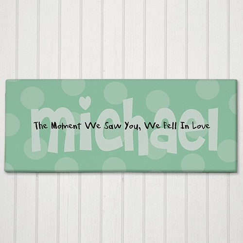 "Personalized ""The Moment We Saw You..."" Baby Wall Canvas"
