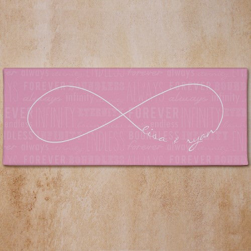 Personalized Infinity Design Wall Canvas Available In 4 Colors