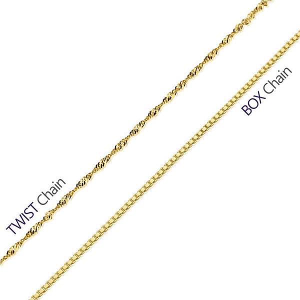 Personalized 14K Gold Italic Name Necklace