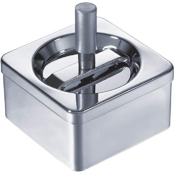 Personalized Square Stainless Steel Push Ashtray