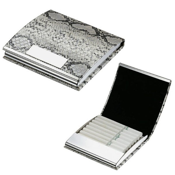 Python Leather Cigarette Case with Engraving Plate