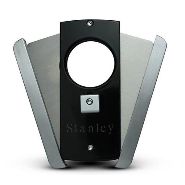 Personalized Axe Glossy Black and Stainless Steel Finish Cigar Cutter