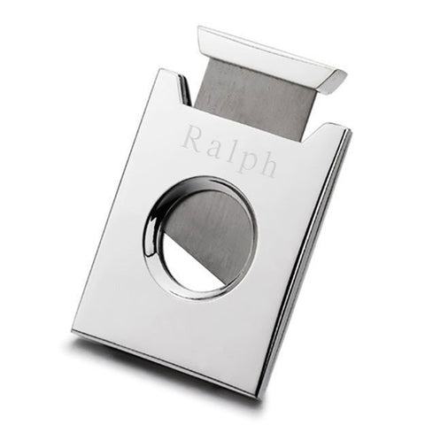 Solt Silver Plated Cigar Cutter with Engraving
