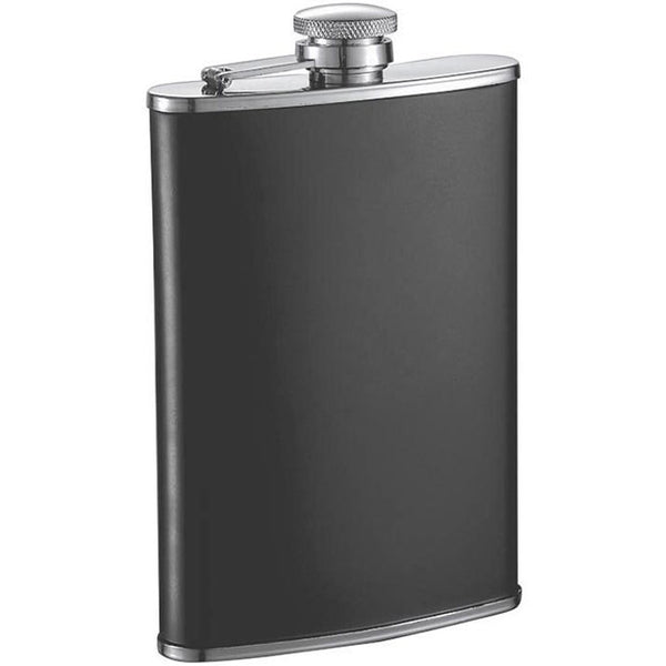 Marcel Matte Black Stainless Steel Liquor Flask - 8 oz - Personalized