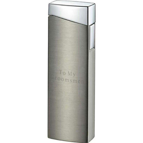 CamiNo Satin Gunmetal Lighter with Personalization