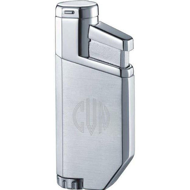PortofiNo Satin and Chrome Torch Flame Lighter with Personalization