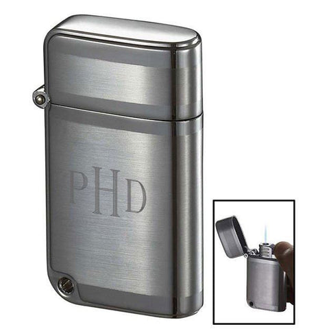 Personalized Ranger Brushed Chrome Torch Flame Lighter